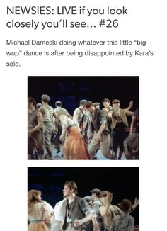 NEWSIES: LIVE  if you look closely you'll see #25 Credits: nobody-told-the-Horse //tumblr