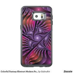 Colorful Fantasy Abstract Modern Purple Fractal OtterBox Samsung Galaxy S6 Edge Plus Case