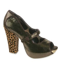 Take a look at this Gold Sightseeing Mary Jane Pump by Irregular Choice on #zulily today! $68 !!
