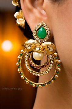 lovely bridal earrings indian jewelry