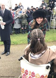 Kate asked a lady if she was warm enough before exchanging festive greetings. Following the life and style of our favourite royal the Duchess of Cambridge.