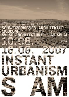 Claudia Basel, Flyer/Poster, S AM Swiss Architecture Museum, 2007