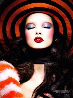 """Colour Kaleidoscope"" : Fei Fei Sun : Vogue China March 2011 : Raymond Meier"