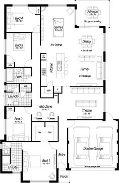 Dream House Plans, House Floor Plans, My Dream Home, Small Space Living Room, Plans Architecture, Frame Store, Shipping Container House Plans, House Blueprints, House Layouts