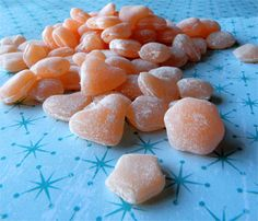 Mochi candy, with orange blossom and orange juice flavoring