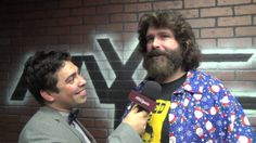 Brandon Lewis interviews WWE Hall of Famer and Pro Wrestling Legend Mick Foley at the Fight the World Wrestling presents Put a Sock In It Show