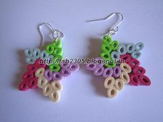 Handmade Jewelry - Paper Quilling Star Earrings