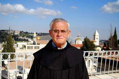 Fray Artemio Vítores, el Embajador de los franciscanos en Jerusalén, con más de 40 años de permanencia en la Custodia de los Lugares Santos.