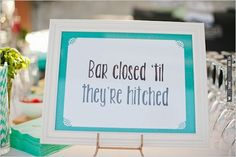 sign for the bar | CHECK OUT MORE IDEAS AT WEDDINGPINS.NET | #weddingfood #weddingdrinks