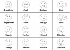 Gefühle Memory basteln - Papier, Memory Spiel, Bastelideen mit Kindern