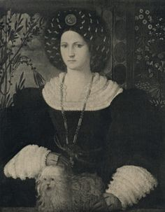 Portrait of Isabella d'Este by Guilio Campi Photo held by Zeri foundation