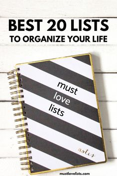 These 20 lists help you organize your everyday activities, document your memories and favorite things, and plan for the future you want.  Start making these lists to organize all your mental clutter. #liststomake #bestlists #organizeyourlife Lists To Make, How To Start A Blog, Paper Organization, Organizing, Household Binder, Chore List, Paper Clutter, Everyday Activities, Family Organizer