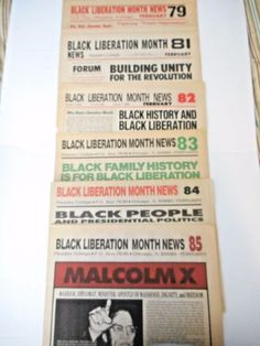 Civil Rights  6 Black Liberation Monthly News  Black History  Malcolm X  MLK