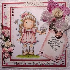 .Tilda with Hawaiian Flower, Butterfly wishes collection, Magnolia stamps