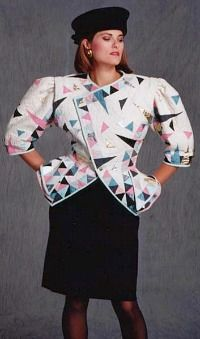 This jacket is about as 80s as you can get...check out those shoulder pads!