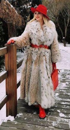 Lynx, Mantel, Faux Fur, Fur Coat, Furs, Unique, How To Wear, Jackets, Women
