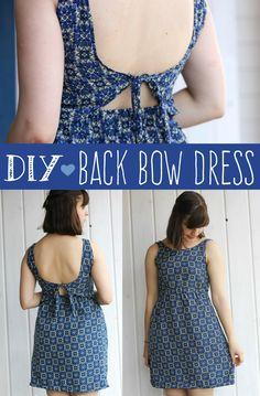Diy Back Bow Dress | Sewing Tutorial | Seemannsgarn | Make your own dress