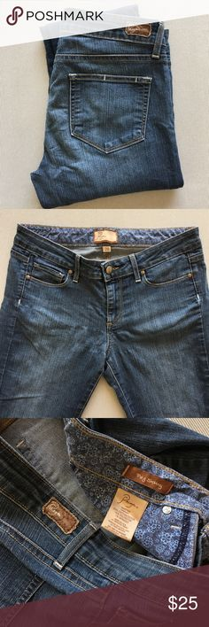 "Paige ""Peg Skinny"" In good used condition, Inseam is 33"" Paige Jeans Jeans Skinny"