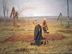 """""""The Oprhans"""", Nikolay Kasatkin, 1891."""