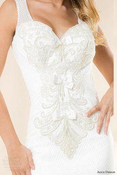 alice design 2014 rebecca romanian wedding dress close up bodice hand beaded -- Alice Design 2014 Wedding Dresses White Wedding Gowns, Wedding Dresses 2014, White Weddings, Designer Wedding Dresses, Unique Weddings, Bridal Dresses, Wedding Designs, Wedding Styles, Wedding Ideas