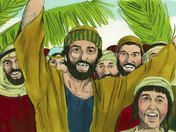 Free Bible illustrations at Free Bible images of Jesus riding into Jerusalem on a donkey while the crowds shout, 'Hosanna'. Free Bible Images, Bible Pictures, Palm Sunday Story, Triumphal Entry, Son Of David, Gospel Of Luke, Bible Illustrations, Bible Activities, Holy Week