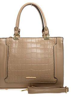 Khaki Croc Handbag