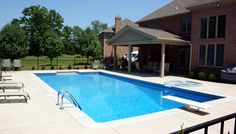 Rectangular Pool With Diving Board In Cincinnati  Designed And Installed By SunSpot  Pool U0026