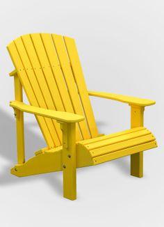 Deluxe Adirondack Chair - Yellow