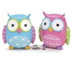 Whimsical Owl Piggy Banks