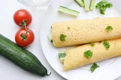 Wraps van Kikkererwtenmeel, ideaal om mee te nemen - Blij Suikervrij Low Gi Foods, Avocado Wrap, Falafel, Lunches, Hummus, Nom Nom, Net, Low Carb, Healthy Recipes