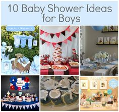 Baby Boy Shower Ideas I like the table setting with brown runner.