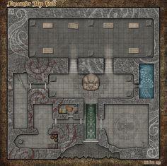 RPG Encounters Map - Cult by Alegion.deviantart.com on @DeviantArt