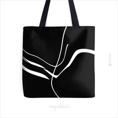 'Organic 8 White on Black Minimalism' - Minimalistic Graphic Art by Menega Sabidussi Minimalist Bag, Minimalist Fashion, Branded Bags, Sell Your Art, Cotton Tote Bags, Shopping Bag, Minimalism, Pouch, Graphic Art