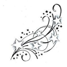 Tatouage etoiles avec decoration.jpg (380×380)