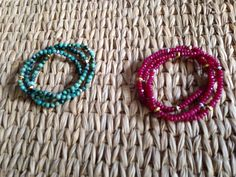 New wrap bracelets.. Rubies and African turquoise.... Other stones available...