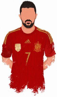 World Cup 2014 Stars - Villa. My illustration collection.