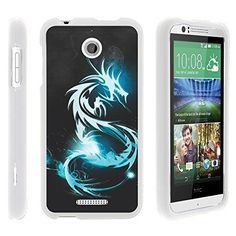 Buy HTC Desire 510 Phone Case, Lightweight Snap On Armor Hard Case with Cute Design Collage HTC Desire 510 (Sprint, Cricket, Boost Mobile, Virgin Mobile) from MINITURTLE | Includes Clear Screen Protector and Stylus Pen - White Dragon NEW for 9.99 USD | Reusell #BoostMobilePhones