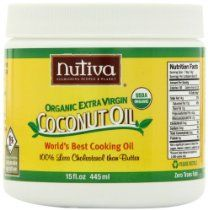 Nutiva Organic Cold-Pressed Virgin Coconut Oil, 15 Ounce (Pack of Extra Virgin Coconut Oil, Coconut Water, Best Cooking Oil, Best Natural Skin Care, Good Fats, Healthy Options, Organic Recipes, Food Hacks, Immune System