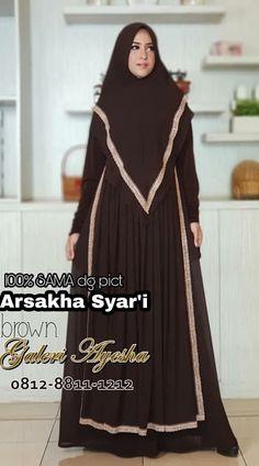 Gamis Pesta Syar'i Arsakha Syari Dress (Ready Stock Dan Made By Order) Casual Hijab Outfit, Hijab Dress, Muslim Gown, Hijab Fashion, Fashion Dresses, Islamic Clothing, Gowns, Womens Fashion, Model