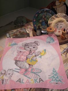 Vintage 1950 State of Alaska Sweet Bear Children's by WinkandMe, $6.00