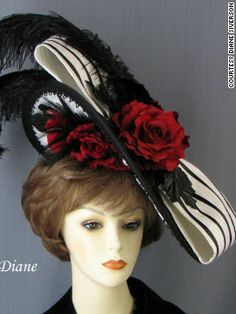 From a slideshow of Kentucky Derby hats, this one is amazing, but wouldn't the people sitting behind you hate your excessive-hat-wearing head?