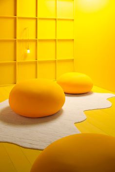 EXPANDPOUF Yellow Art, Pastel Yellow, Shades Of Yellow, Mellow Yellow, Orange Yellow, Mustard Yellow, Pouf Rembourré, Art Jaune, Yellow Interior