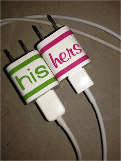 Personalized iPhone Charger Decal by LittleMonkeyBiz on Etsy, $3.00