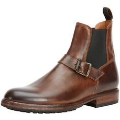 Frye Men's Wilson Engineer Chelsea Boot - Dark Brown, Size 10 ($205) ❤ liked on Polyvore featuring men's fashion, men's shoes, men's boots, dark brown, mens boots, mens leather boots, mens leather chelsea boots, frye mens shoes and mens beatle boots