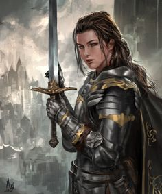A place to share and appreciate fantasy and sci-fi art featuring reasonably portrayed women. Fantasy Female Warrior, Female Armor, Female Knight, Fantasy Armor, Fantasy Women, Medieval Fantasy, Fantasy Girl, Woman Warrior, Lady Knight