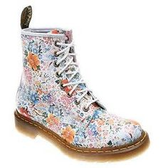 106 best dr martens images on pinterest ankle boots doc martens dr martens boots white leather floral pattern lace up ankle boots 8 eyes mightylinksfo