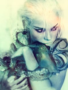 octopus' garden by opheliaXX.deviantart.com on @DeviantArt Illustrations, Illustration Art, Water Nymphs, Sea Witch, Mermaids And Mermen, Mermaid Art, Mermaid Pics, Merfolk, Deviantart