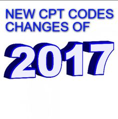 New CPT code changes in 2017