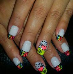 Heart Nails, Acrylic Nails, Hair Beauty, Nail Art, Triangles, Fingers, Ideas, Nail Design, Templates