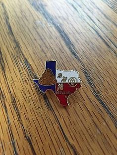 OPTIMIST CLUB Beeville TX PIN ENAMEL Metal PIN Collectible Texas State beehive